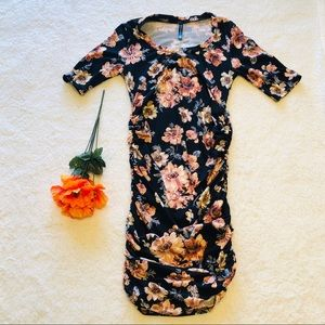 Rags and Couture Dresses - Maternity bodycon floral dress SIZE S